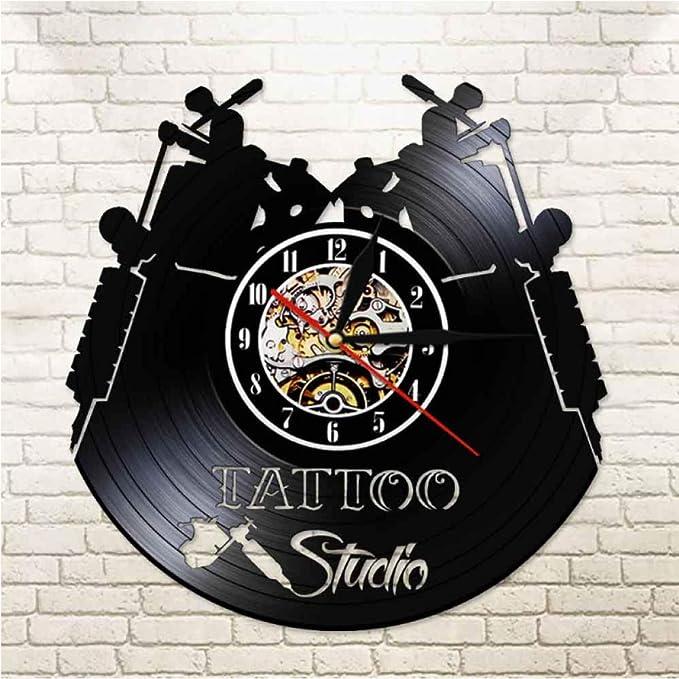 wffmx Tattoo Studio Logo Business Sign Vintage Vinyl Record Reloj ...