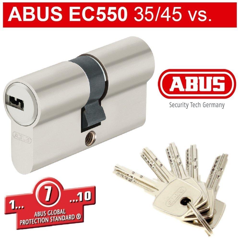 ABUS EC550 - Cerradura de cilindro con 5 llaves (35-35 mm): Amazon.es: Bricolaje y herramientas