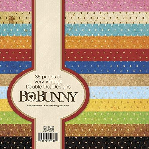 Bo Bunny BoBunny Double Dot Paper Pad, 6 by 6-Inch, Very Vintage, - Bo Scrapbook Bunny