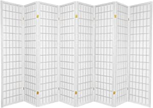 SQUARE FURNITURE 8 Panel Room Divider - White