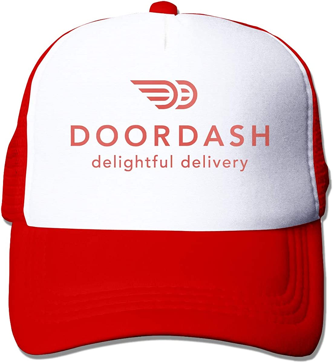 ASFSDGSDG Doordash Door Dash Food Delivery Funny Unisex Adjustable Mesh Hat Baseball Caps Trucker Cap Unisex