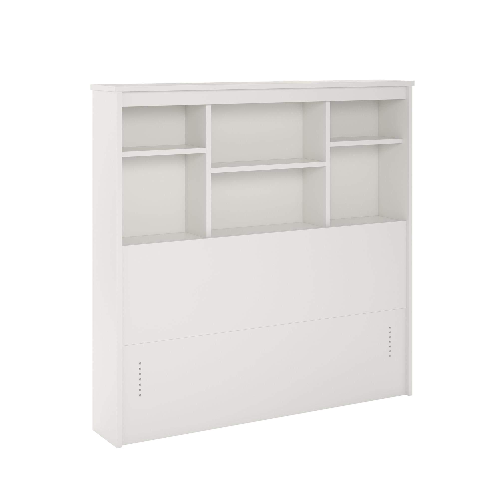 REALROOMS Lacey Twin Storage Headboard, White