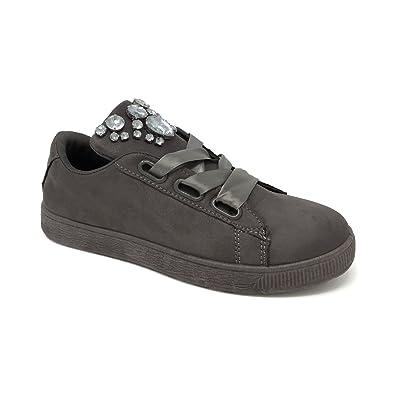 Roberta Martini - Zapatillas de Lona para mujer gris gris gris Size: 36: Amazon.es: Zapatos y complementos