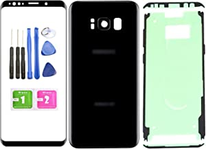 "Ubrokeifixit Compatible Front Outer Lens Glass Screen Rear Panel Back Cover Replacement for Samsung Galaxy S8+ Plus 6.2"" G955 All Phone Carriers(NO-LCD;NO-Digitizer) (Black)"
