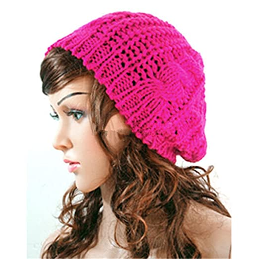 73677414165 Image Unavailable. Image not available for. Color  Women Lady Winter Warm  Knitted Crochet Slouch Baggy Beret ...