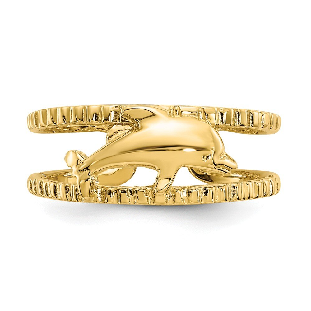 Ninas Jewelry Box 14k Yellow Gold Dolphin Toe Ring
