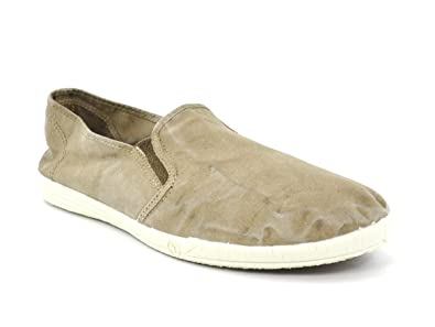 Natural World Scarpe Uomo Slip on Elastico Cotone Bio