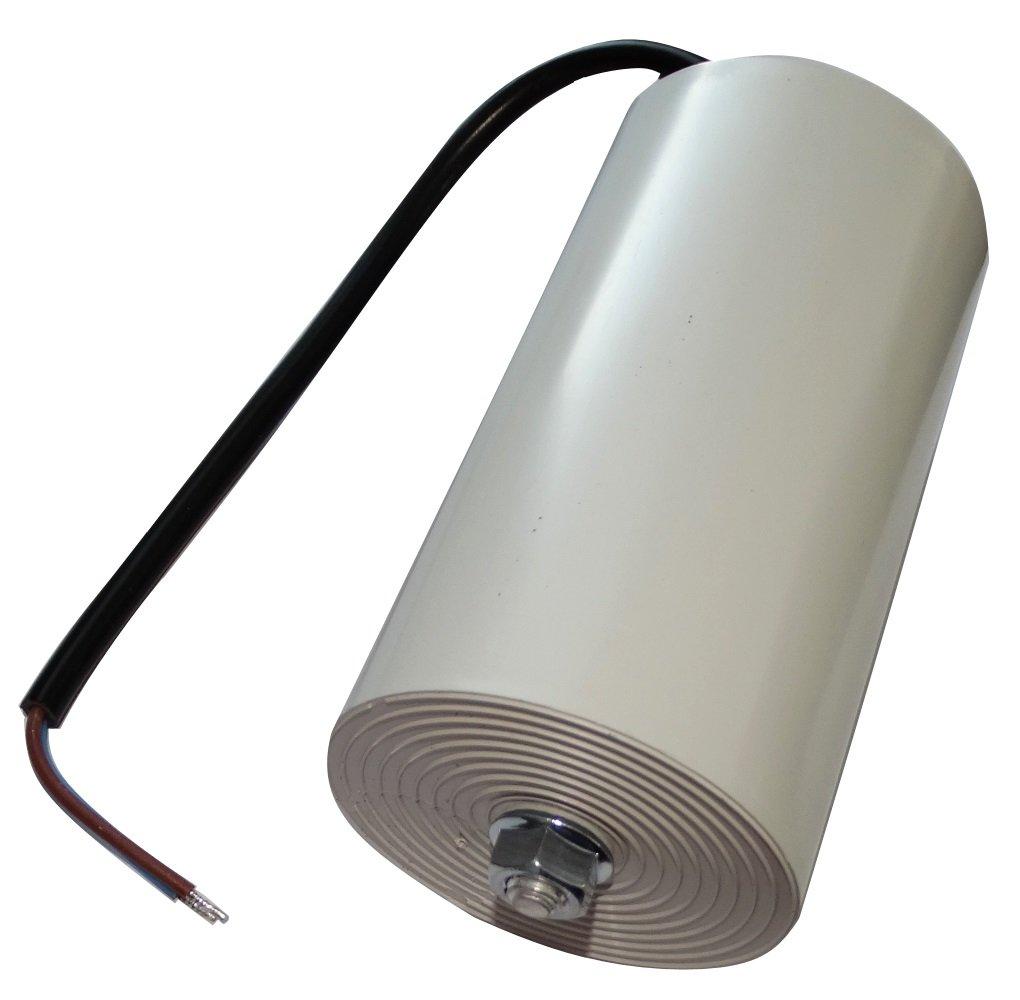 Aerzetix - Condensatore permanente di lavoro per motore 100µ F 450V con cavo 25 cm Valeo C18736-AL725