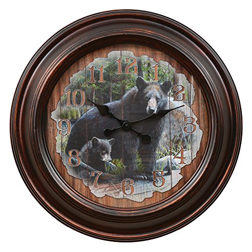 Black Bear Clock - Large -