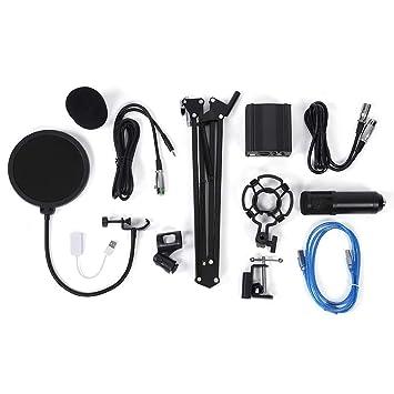 Kit de micrófono de condensador con soporte de base para micrófono ...