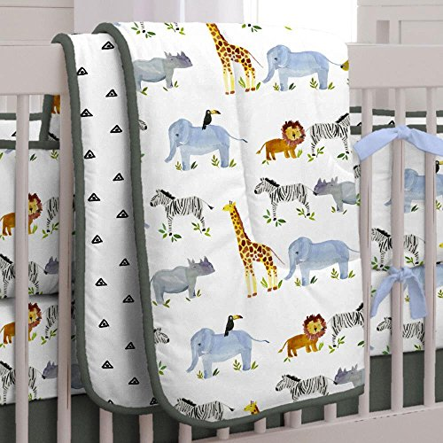 Carousel Designs Painted Zoo Crib Comforter by Carousel Designs