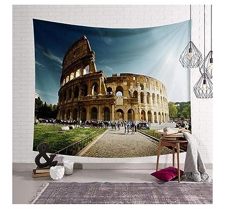 HYDDAXJW Tapiz De Arquitectura De Fama Mundial De Roma ...