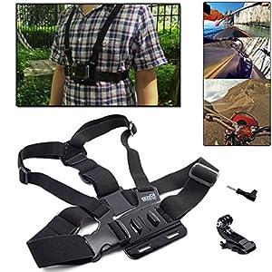 EEEKit Starter Kit for Campark Ultrathin 4k Wifi Waterproof / Review XP 4K Action Camera, Head Strap/Floaty Grip Pole/Chest Harness/Car Suction Cup/Selfie Stick Mount