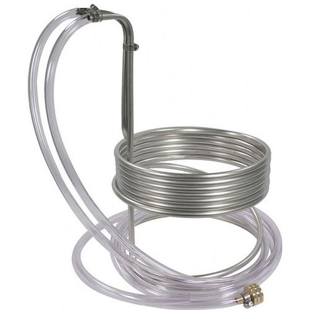 Stainless Steel Immersion Wort Chiller NY Brew Supply W3825-SV