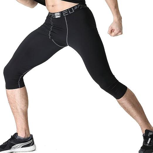 Men Slim Compression Under Skins Base Layers Gym Pants Shorts Workout Leggings