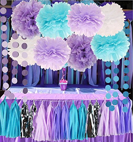 Mermaid Under the Sea Decorations Purple Baby Blue Baby Show