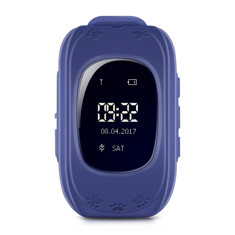 Childrens Smartwatch rastreador reloj para Kid Niño, Niños Reloj Inteligente IOS Android GPS reloj teléfono reloj de los niños actividad Tracker LBS doble ...