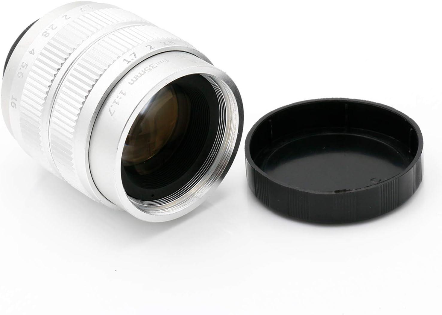 Silver Fujian 35mm F1.7 CCTV Movie Lens/CCTV Lens for Sony ...