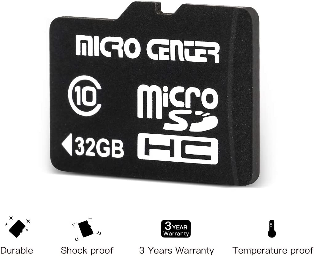 Micro Center 16GB Class 10 Micro SDHC Flash Memory Card with Adapter 2 Pack