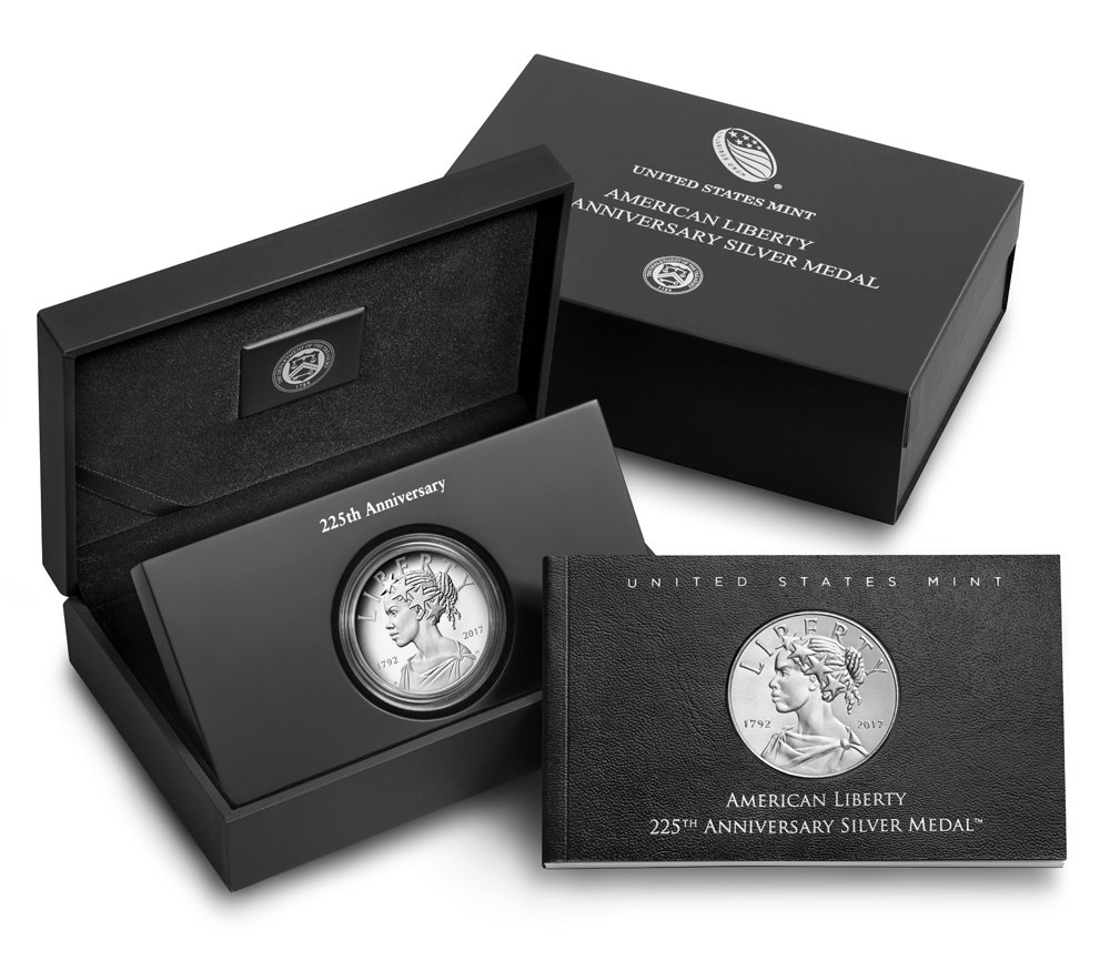 2017 P Liberty Silver Medal 225th Anniversary American Liberty Silver Medal Silver Medal Not Graded US Mint DCAM