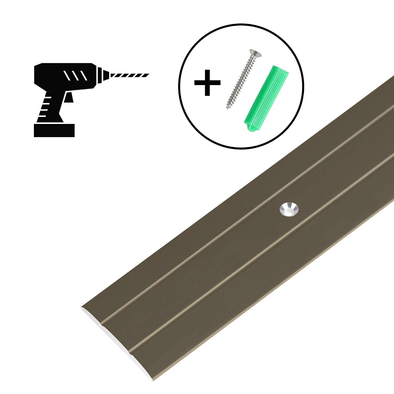 Profil 100 cm x 36 mm x 2,5 mm Bronze Toolerando /Übergangsprofil /Übergangsleiste Bodenleiste aus Aluminium zum Schrauben