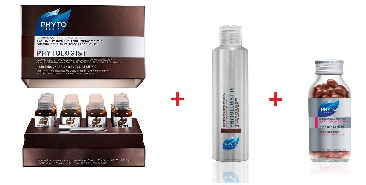 Sistema phytologist Tratamiento Completo 3 productos para el cuidado de pelo: Amazon.es: Belleza