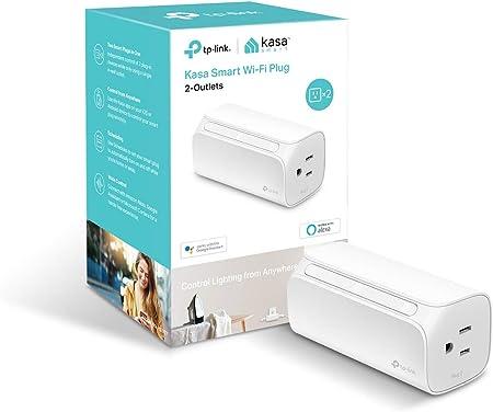 Amazon.com: Kasa enchufe inteligente, 2 tomas por TP-Link ...