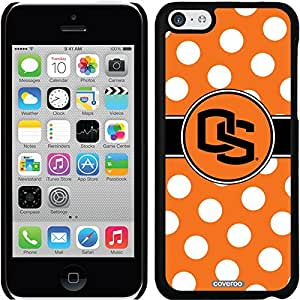 Coveroo iPhone 6 4.7 Black Thinshield Snap-On Case with Oregon State Polka Dots Design