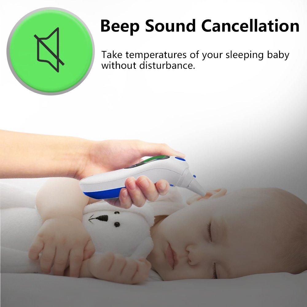 Digital Infrared Baby Forehead Thermometer with Ear Function More Accurate Medical Fever Body Basal Thermometers Suitable for Infant Kid Adult - FDA and CE Approved by QQCute (Image #6)