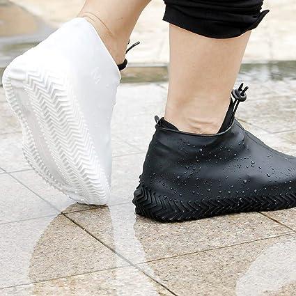 LIOOBO 1 paire de chaussure imperm/éable en silicone couvre-chaussure antid/érapante botte de pluie r/éutilisable pour le v/élo de randonn/ée la p/êche en plein air
