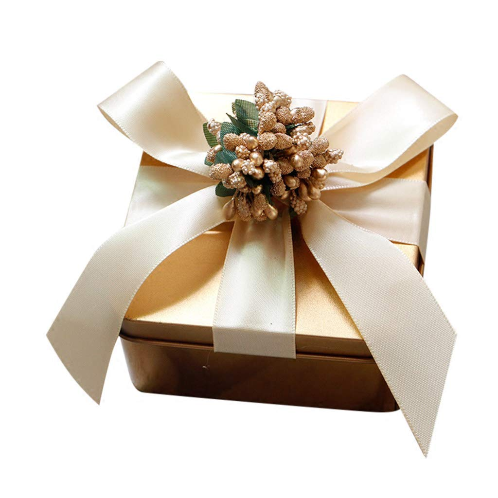 Creative Golden Tin Wedding Candy Boxes, Bridal Shower Wedding Party Anniversary Guests Gift Favour Boxes, 50 Pcs 100pcs