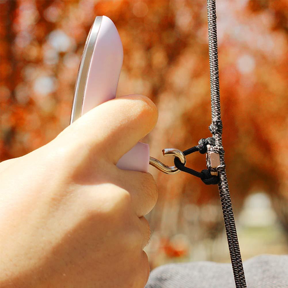 Ganquer 110lbs Tiro con LArco Ricurvo Digitale Dinamometro Caccia Arco Bilancia Durevole Pratico Acciaio Inox Arco Bilancia Argento Free Size
