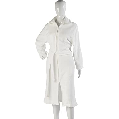 Slenderella Womens Luxurious Soft Coral Fleece Zip Dressing Gown. (10-12 2597ee980