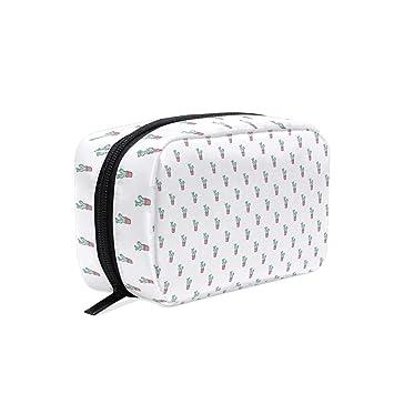 45df75f7e19e Amazon.com : Makeup Bag for Portable Cute Opuntia Cactus Traveling ...