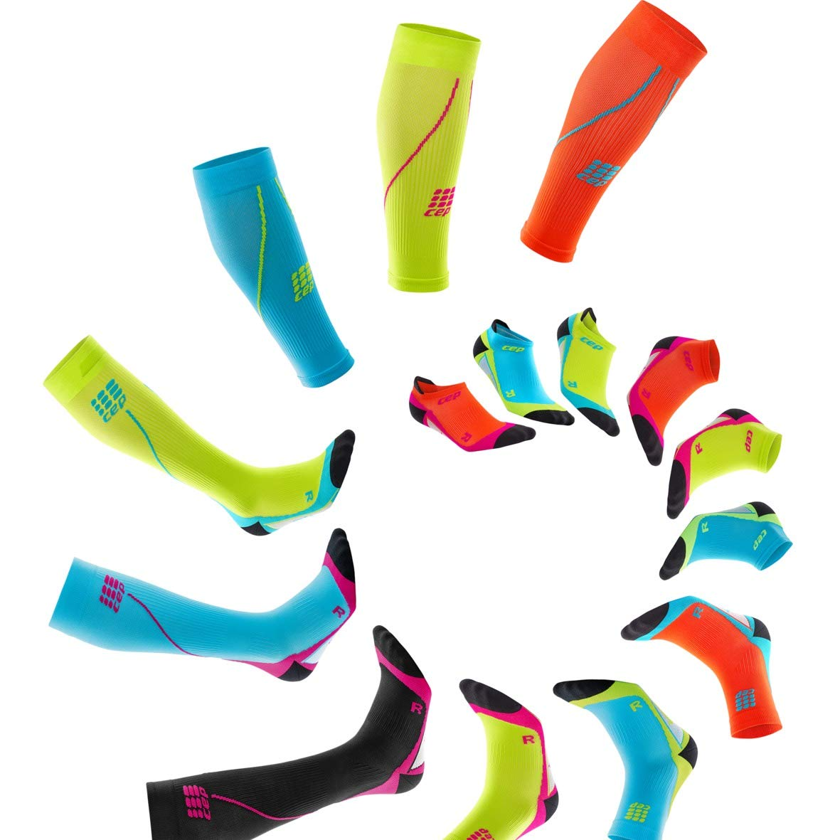 Womens Calf Compression Sleeves - CEP Running 2.0 (Black) II by CEP (Image #4)