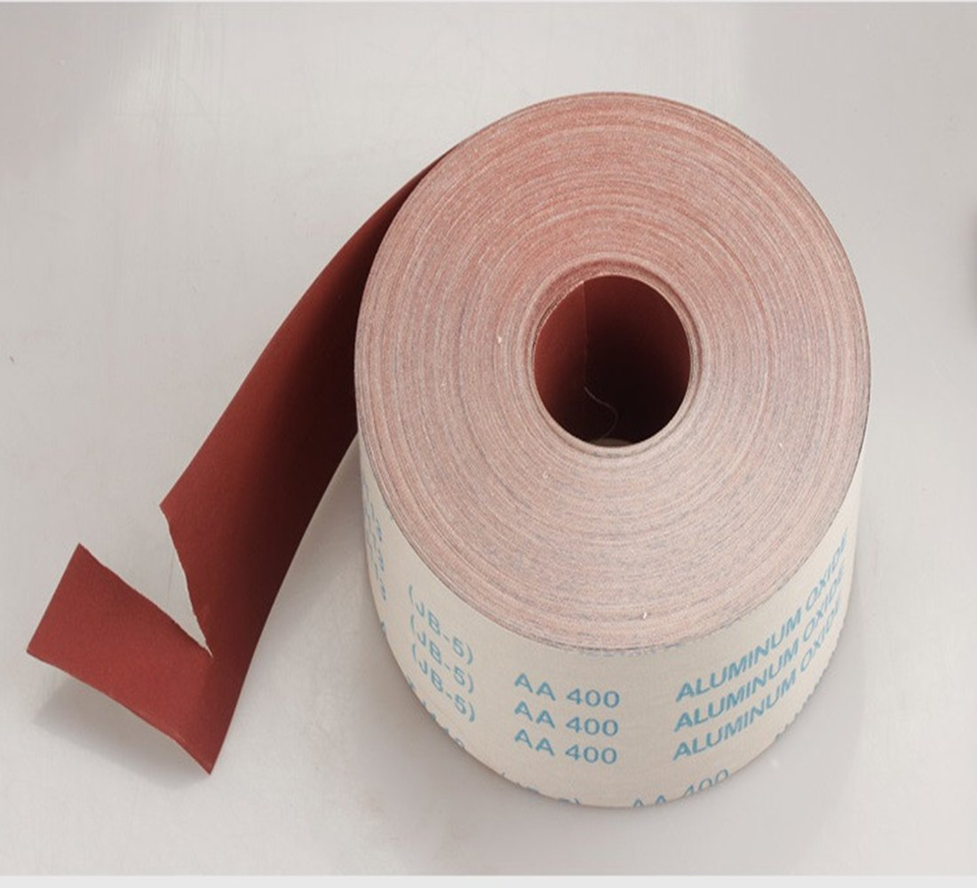2 meter Grit 80/100/120/150/180/240/320/400/600 Wide Emery Cloth Roll Sanding Paper Grinding Polishing Tools Metalworking (80) HZSTONE