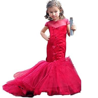 RMdress RMdress Mädchen Prinzessin Meerjungfrau Zug Blumenmädchen ...