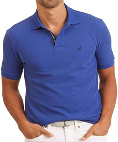 Nautica Men Classic Fit Polo Pique T-Shirt, Blue Hawaiian, M ...
