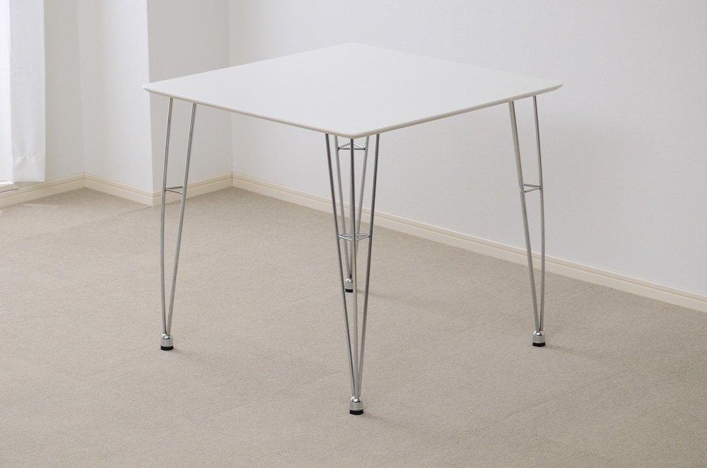 おしゃれでシンプル!ダイニングテーブル ホワイト(カジュアルなデザイナーズテーブル) B06WGMC99Z テーブル単品|ホワイト ホワイト テーブル単品