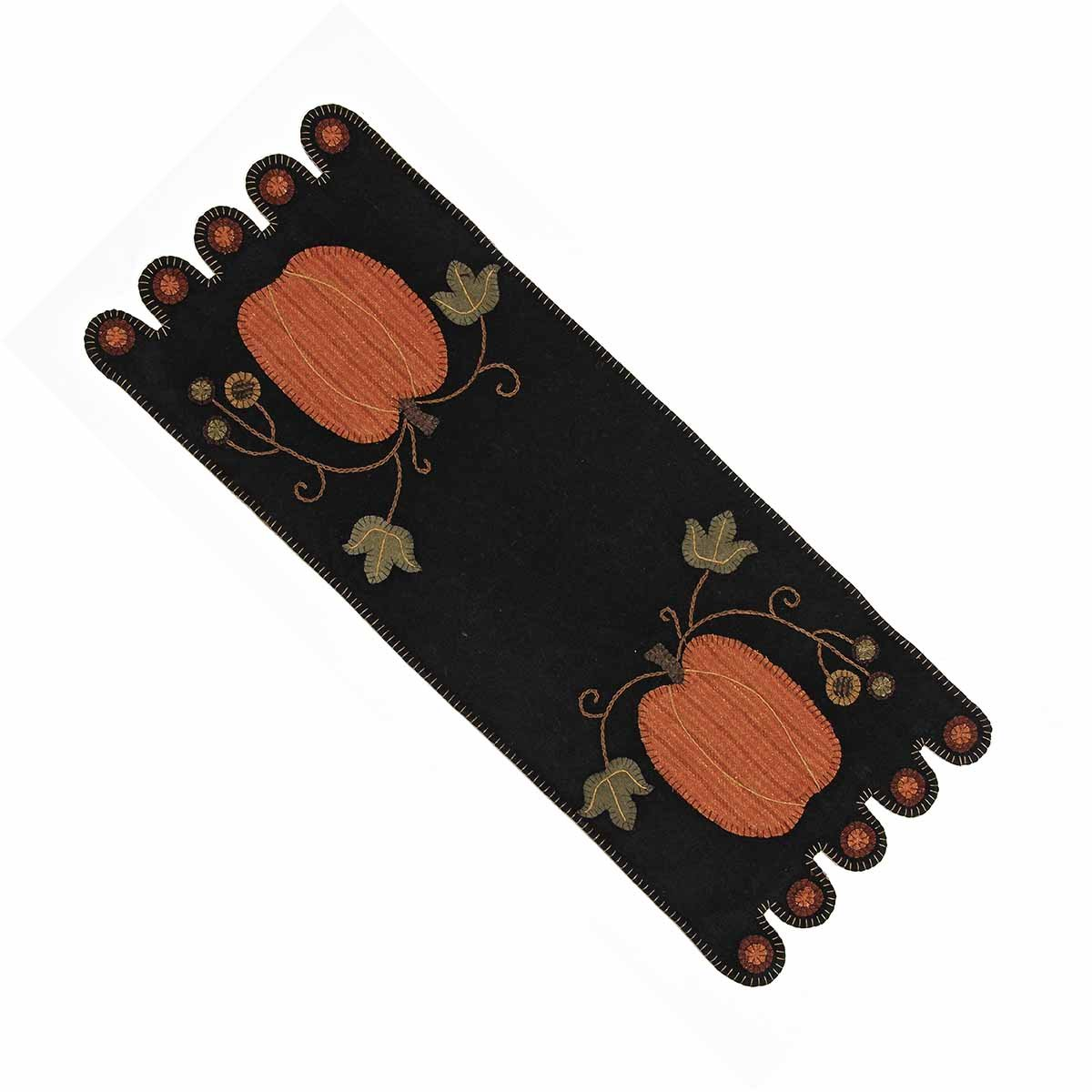 Home Collection by Raghu Pumpkin Table Runner, 14 by 36-Inch