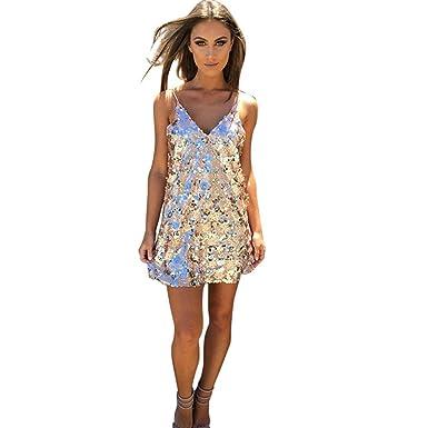 Damen Kleider Xinan Rückenfreie Kleid Cocktail kurze MiniKleid ...
