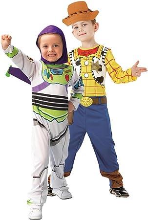 Generique - Disfraz Infantil de Pareja de Woody y Buzz Lightyear ...