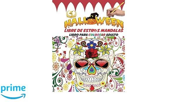 Halloween libre de estrés Mandalas Libro para colorear adulto ...