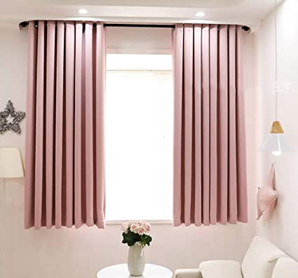 Double Sided Blackout Curtains Drapes Window Treatment Solid Curtains Room Darkening Curtains For Living Room 1 Piece Eyelet Window Curtain For Bedroom W150xl270cm Amazon Co Uk Kitchen Home