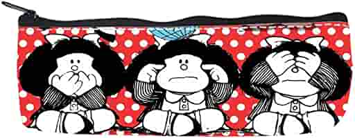 Relajante suministro Custom toda Mafalda mochila escolar y estuche: Amazon.es: Oficina y papelería