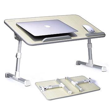 Signstek – Ajustable para Cama Mesa, portátil Ordenador portátil Bandeja de Cama Mesa con Patas