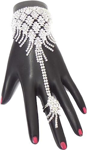 Hand Chain Rhinestone Slave Bracelet