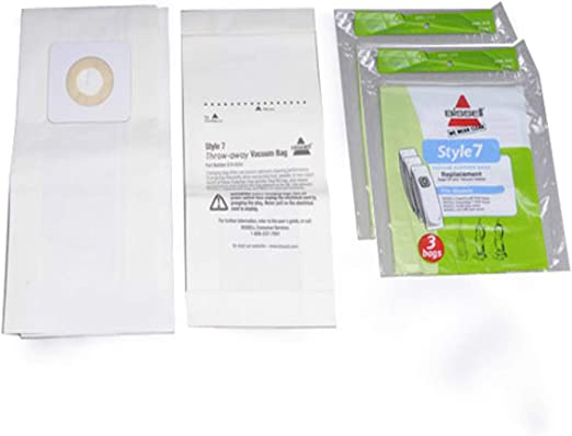 Vacuum Cleaner Paper Bags Genuine 9 Bissell 32120 Style 7