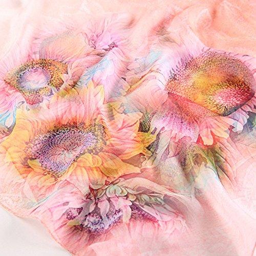 elegante protectores de Todos Moda 5 playa 14 de y los Bufanda colores 15 Resistente primavera de cm sol para solares 110 Impreso 180 mujer seda al verano Estilo 1q1xdEwA7
