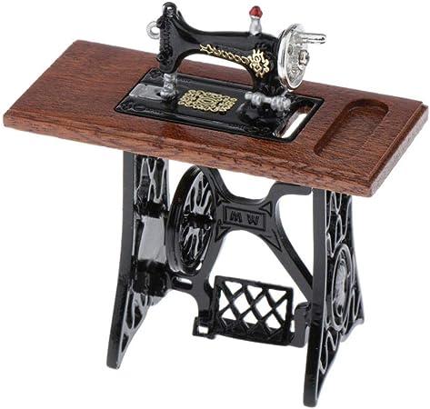 Amazon.es: Toygogo Máquina de Coser en Miniatura Juguete Infantil para Decoración de Dollhouse - 7 x 3 x 7 cm ...